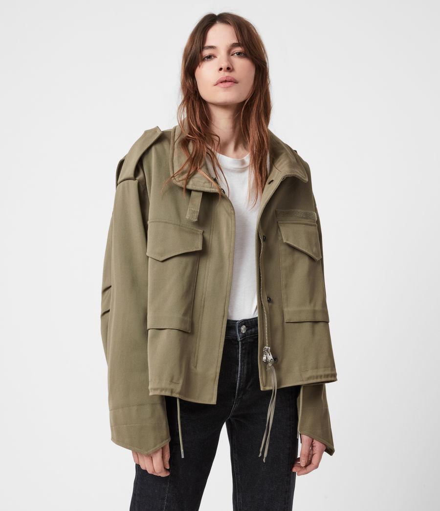 Women's Amelia Military Jacket (khaki_green) - Image 1