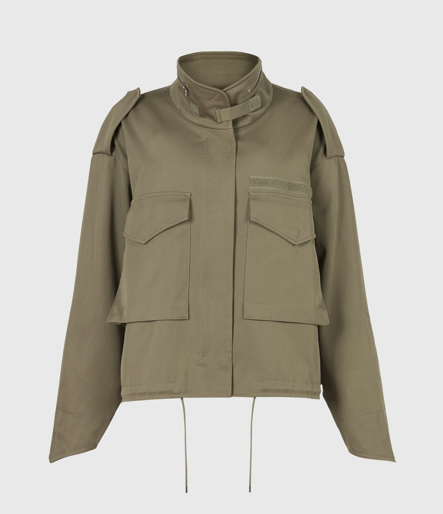 Women's Amelia Military Jacket (khaki_green) - Image 2