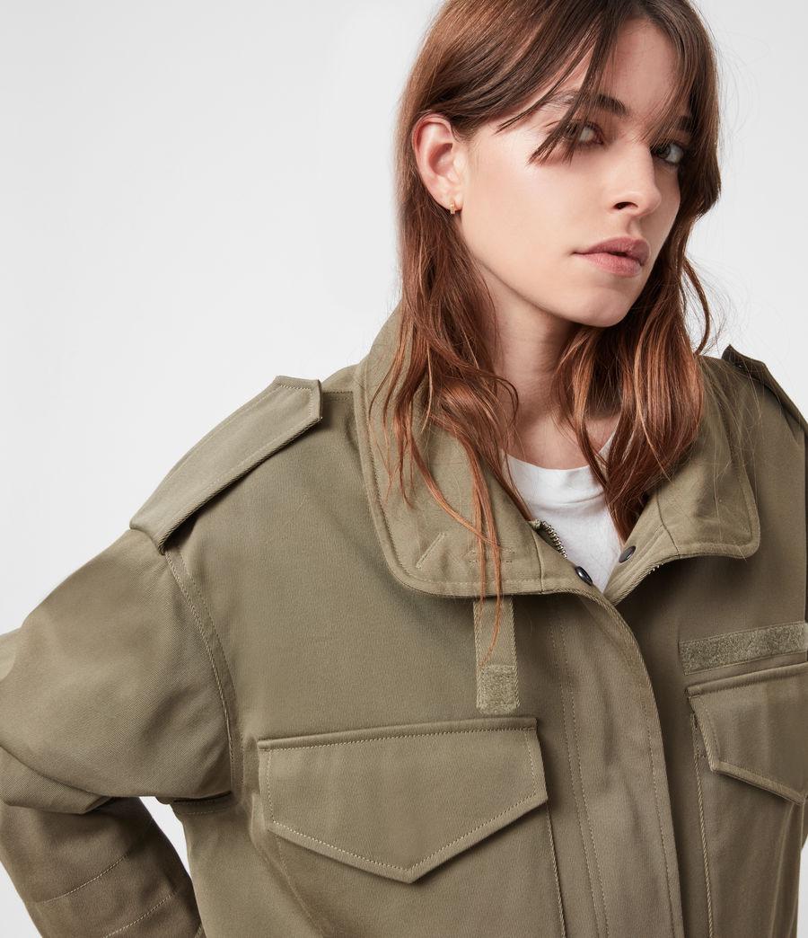 Women's Amelia Military Jacket (khaki_green) - Image 4