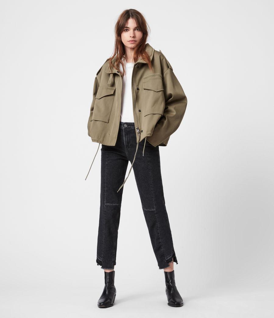 Women's Amelia Military Jacket (khaki_green) - Image 7