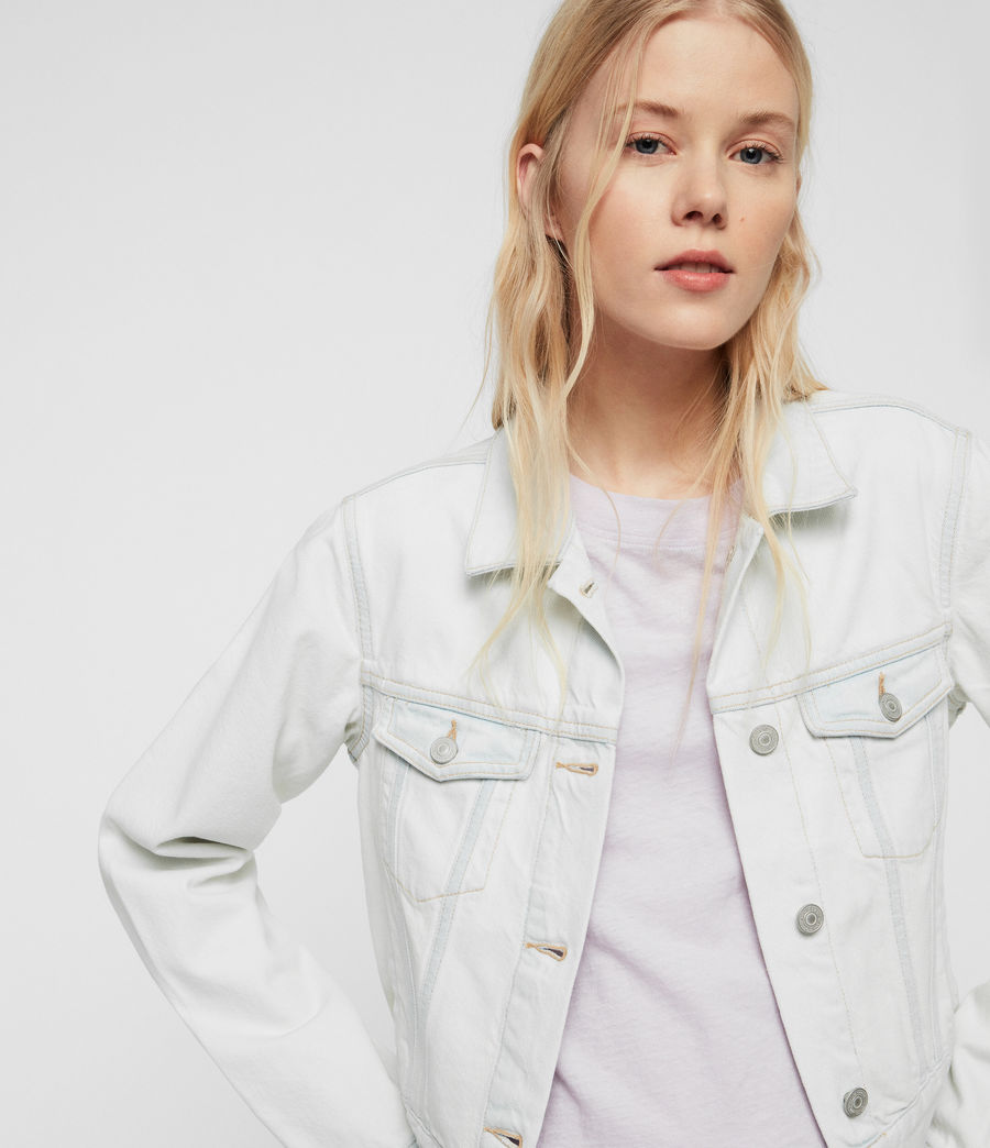 Womens Ellis Denim Jacket (bleach_indigo_blue) - Image 2
