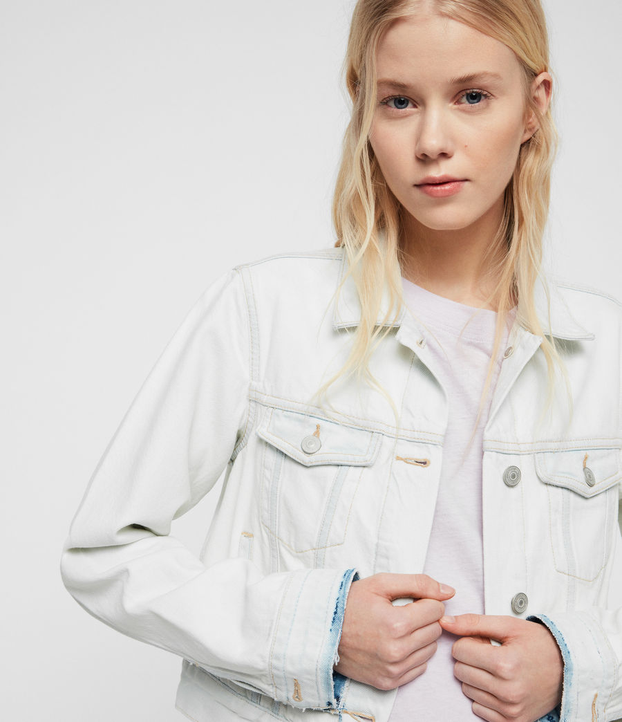 Womens Ellis Denim Jacket (bleach_indigo_blue) - Image 3