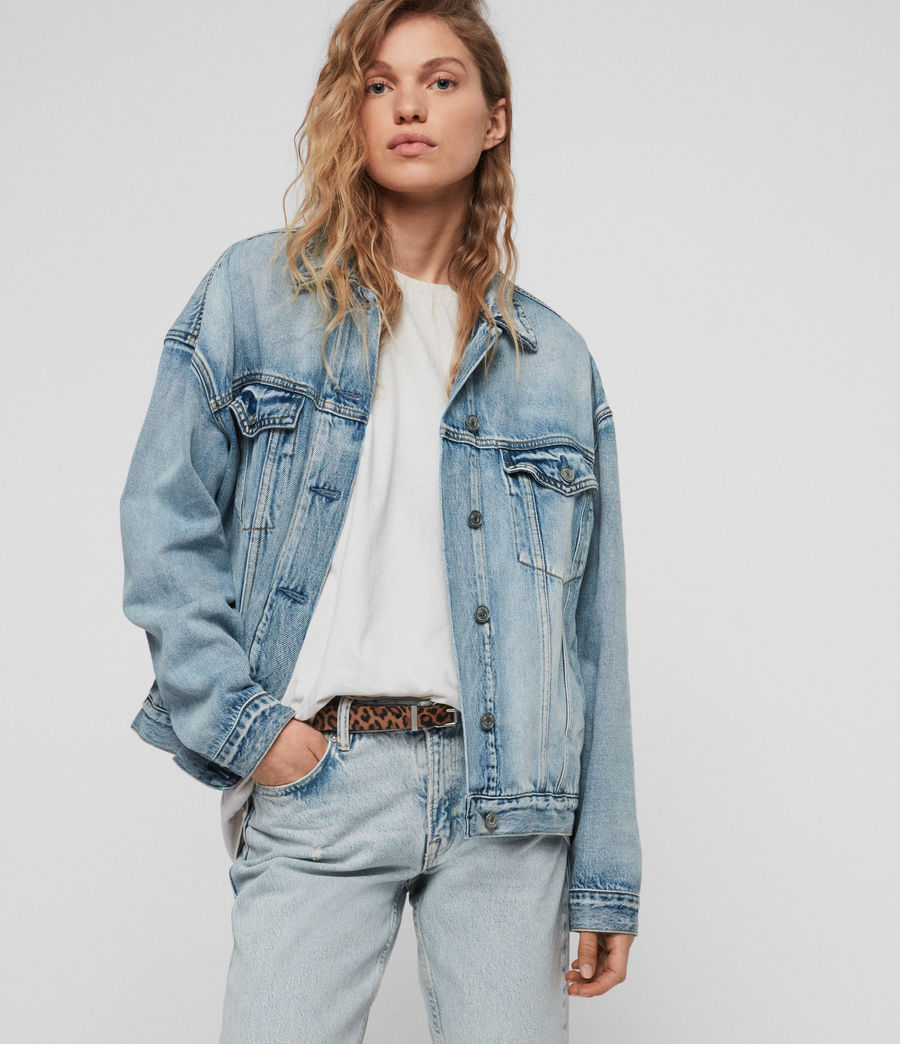 Women's Mai Oversized Denim Jacket (indigo_blue) - Image 1
