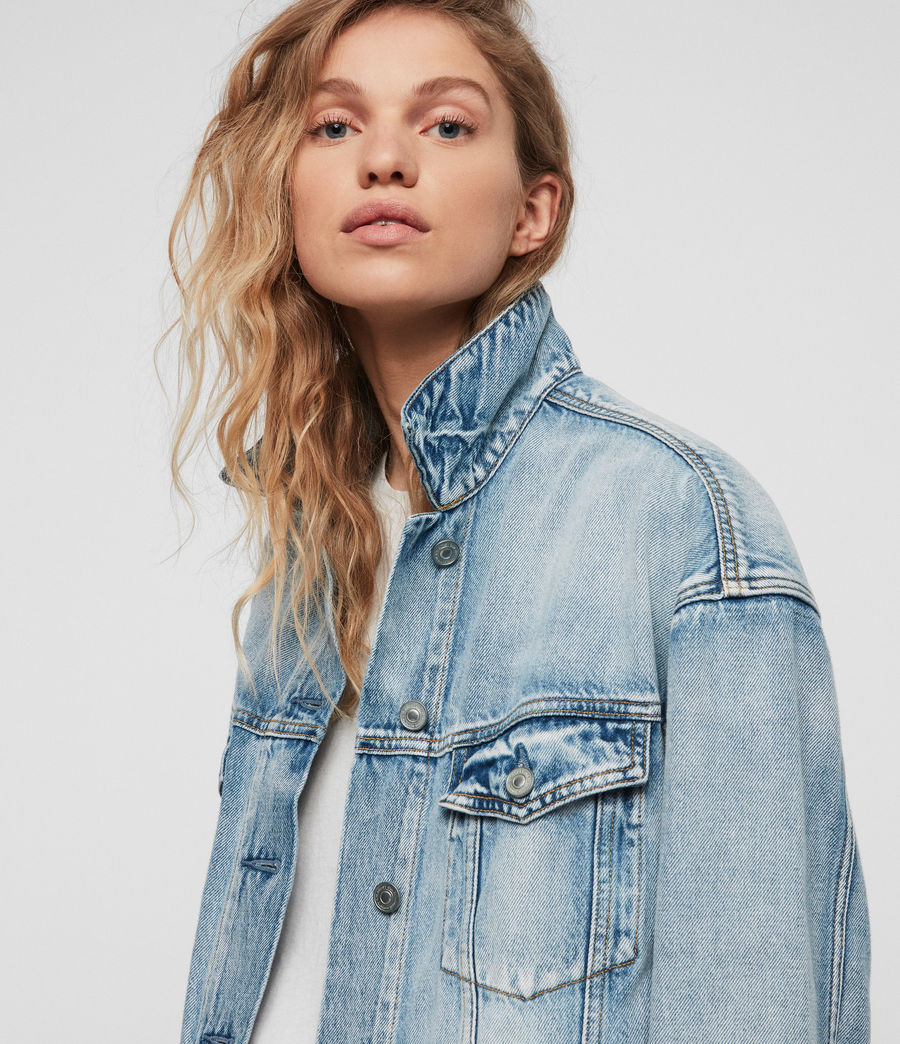 Women's Mai Oversized Denim Jacket (indigo_blue) - Image 2