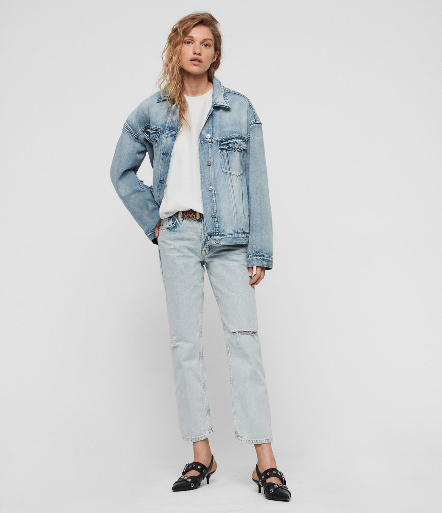 Women's Mai Oversized Denim Jacket (indigo_blue) - Image 3