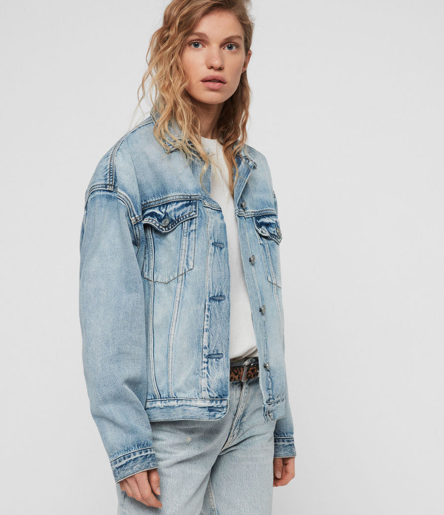 Women's Mai Oversized Denim Jacket (indigo_blue) - Image 4