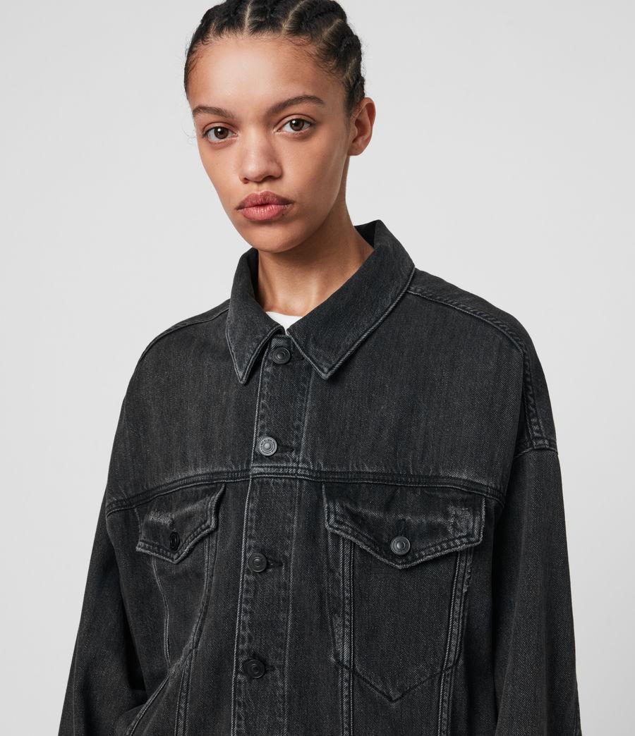 Women's Lark Denim Jacket (washed_black) - Image 2