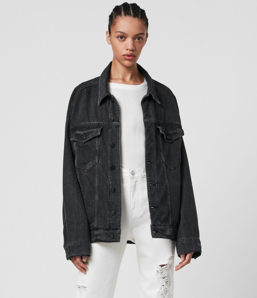 Mujer Lark Denim Jacket (washed_black) - Image 2