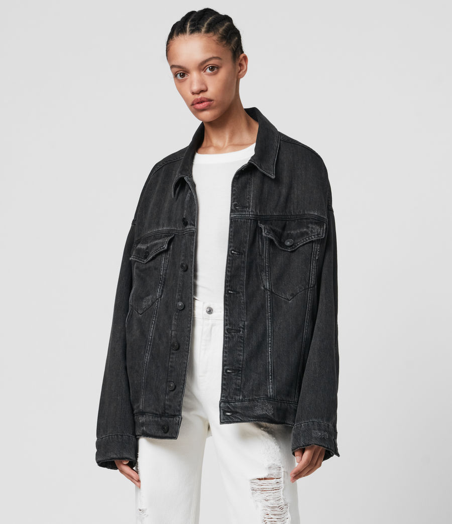 Mujer Lark Denim Jacket (washed_black) - Image 3