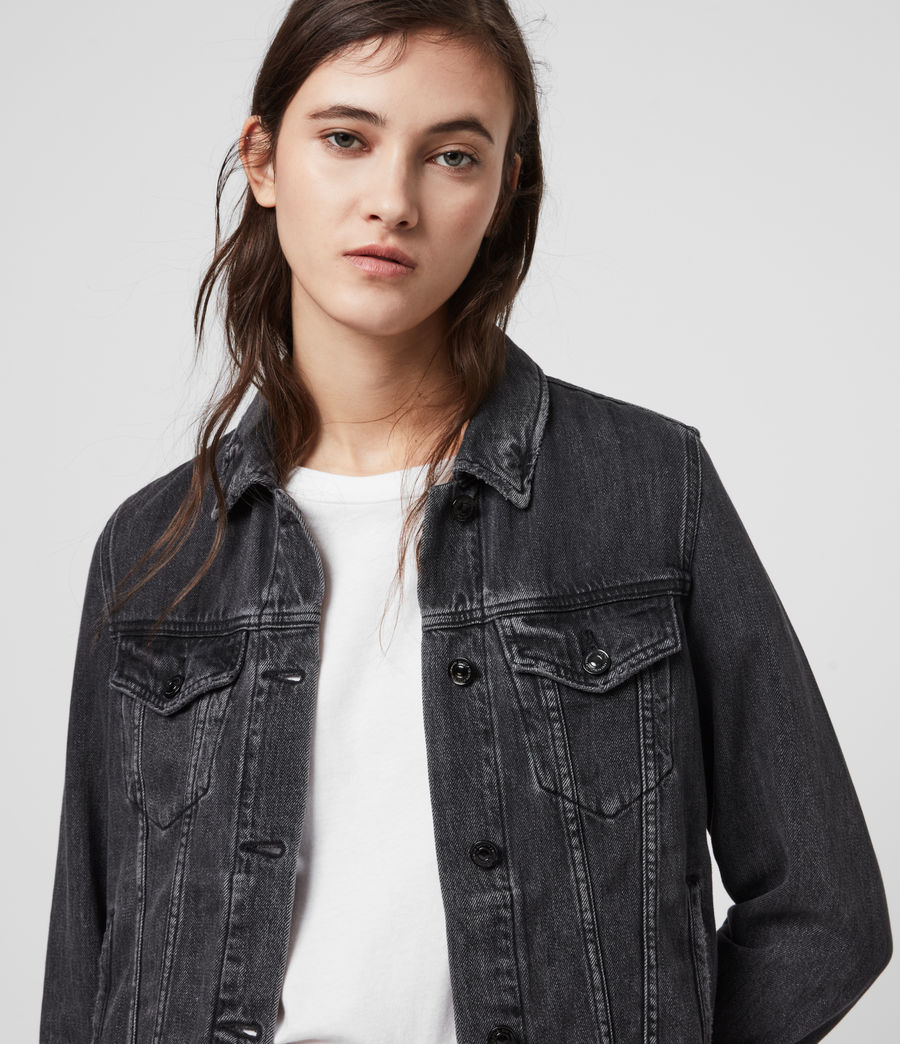 Women's Hay Denim Jacket (washed_black) - Image 2