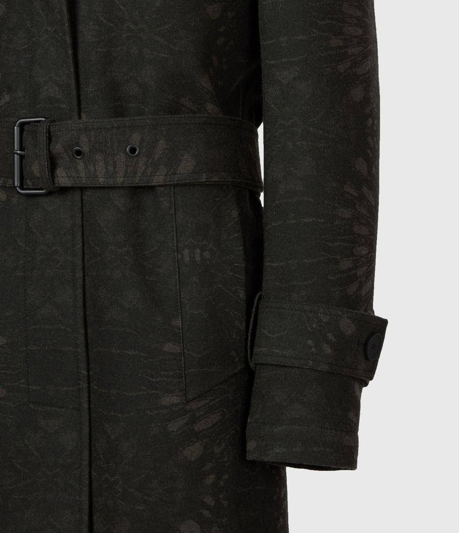 Womens Travis Wool Blend Trench Coat (khaki_green) - Image 8