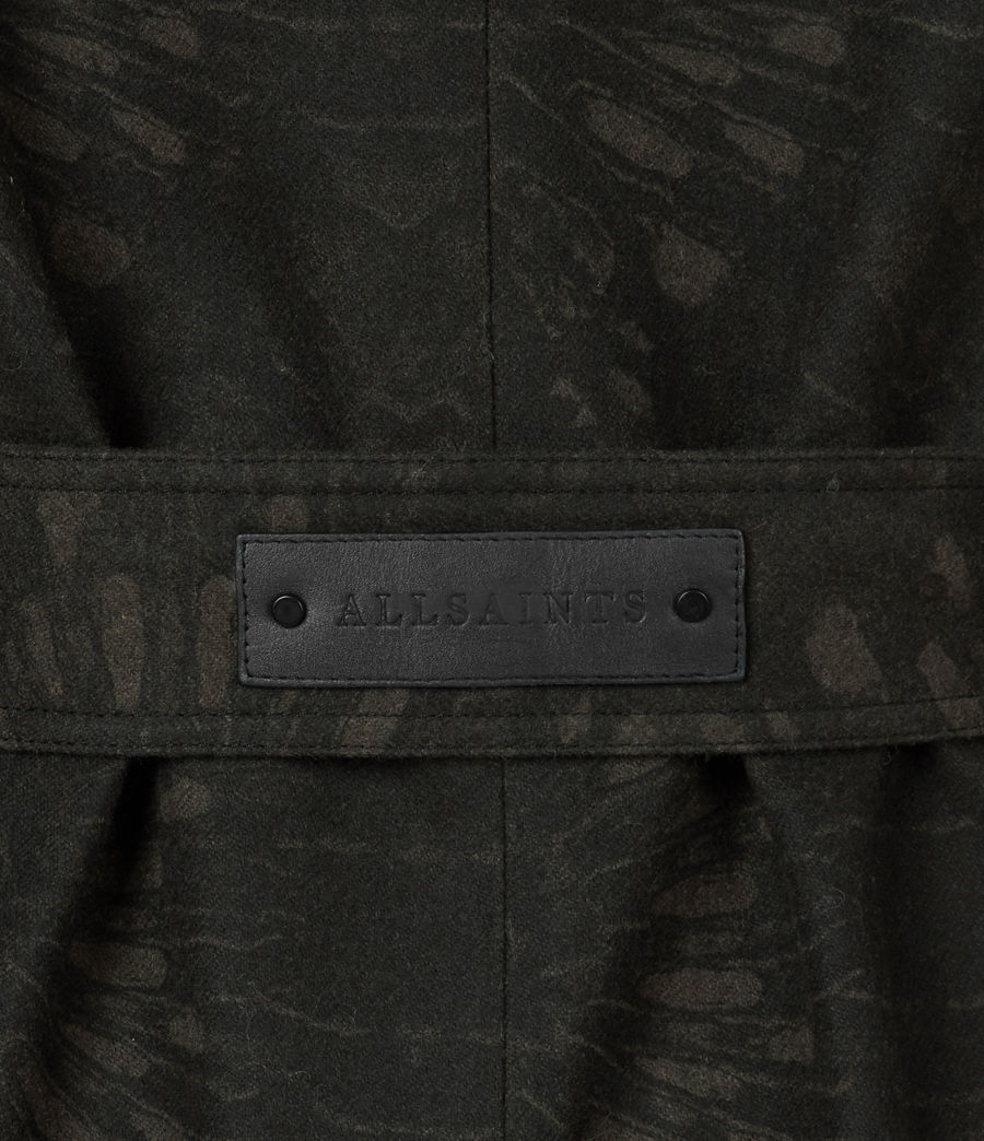 Womens Travis Wool Blend Trench Coat (khaki_green) - Image 9