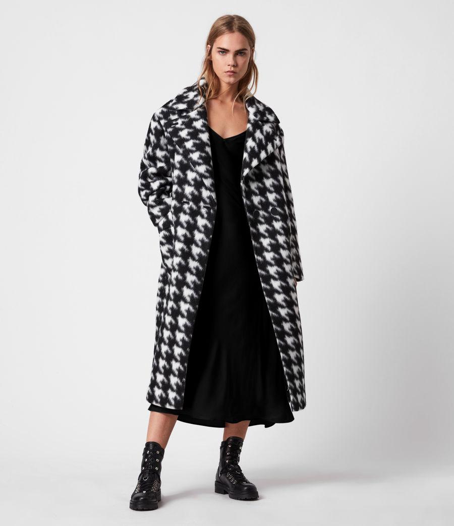 Womens Eda Coat (black_white) - Image 1