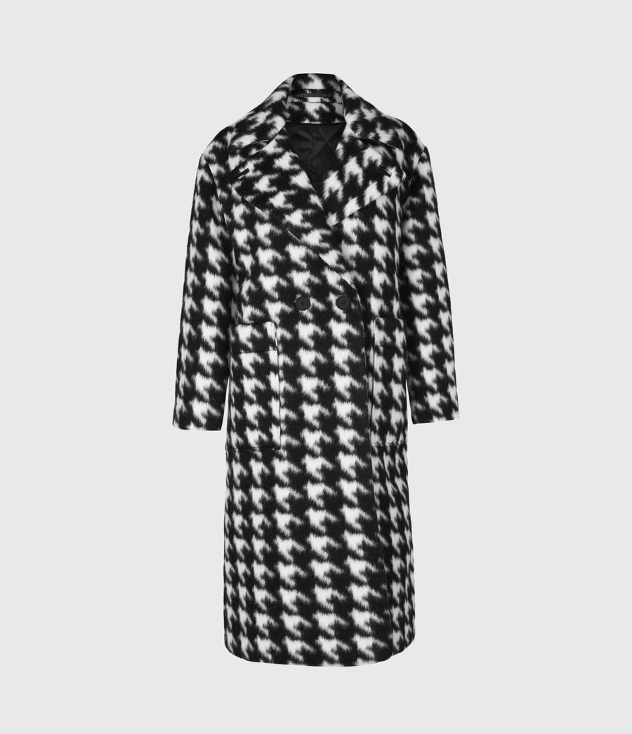 Womens Eda Coat (black_white) - Image 2