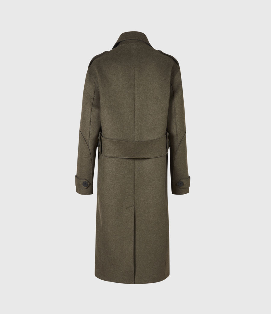Women's Rene Wool Blend Coat (khaki_green) - Image 3