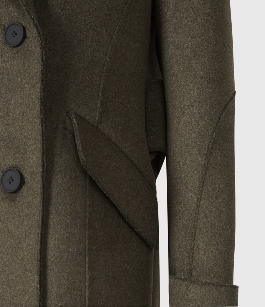 Women's Rene Wool Blend Coat (khaki_green) - Image 6