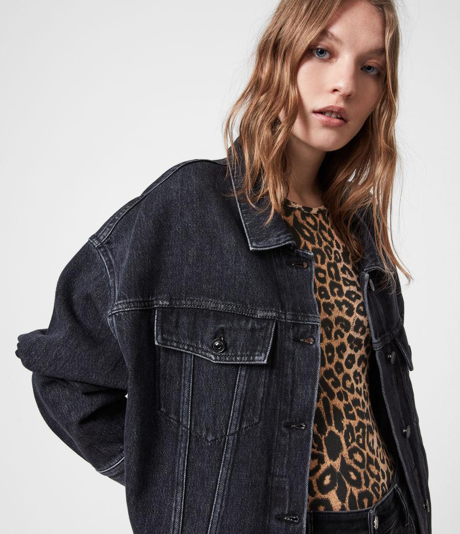 Womens Piper Denim Jacket (washed_black) - Image 1