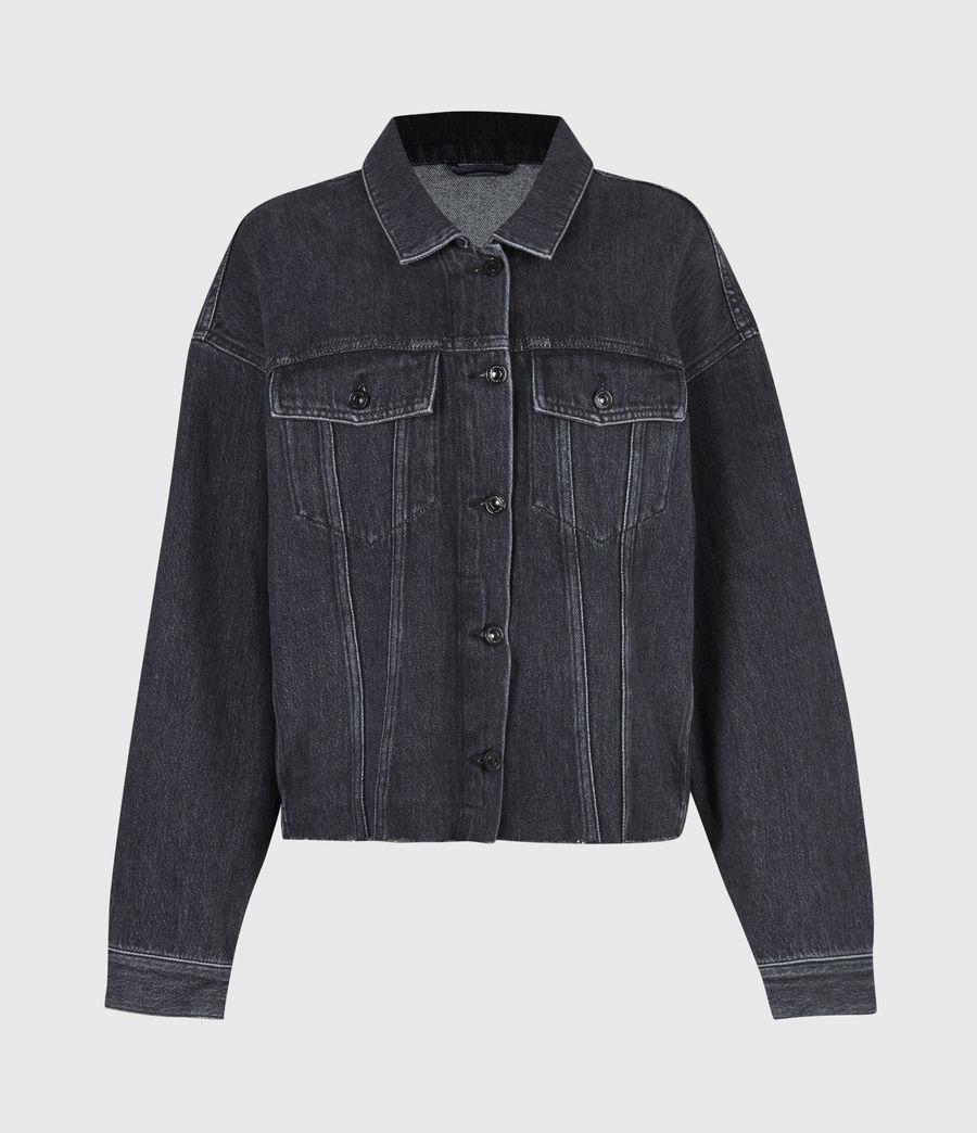Womens Piper Denim Jacket (washed_black) - Image 2