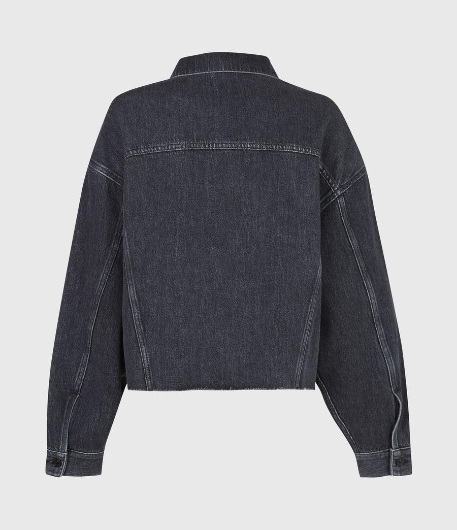 Womens Piper Denim Jacket (washed_black) - Image 3
