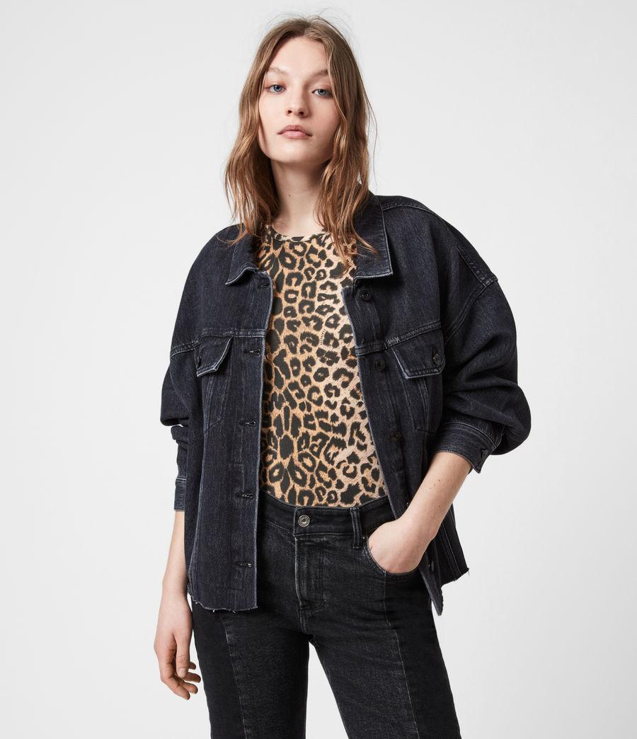 Womens Piper Denim Jacket (washed_black) - Image 4