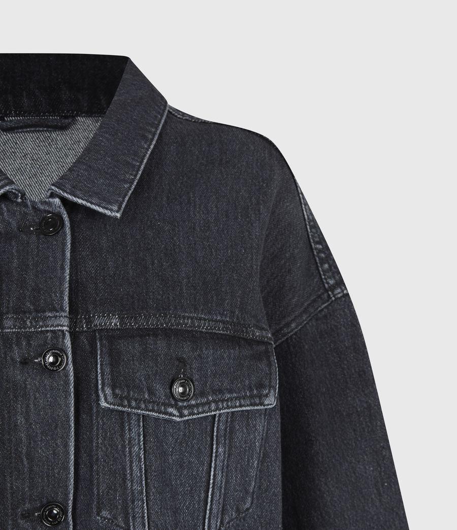 Womens Piper Denim Jacket (washed_black) - Image 5