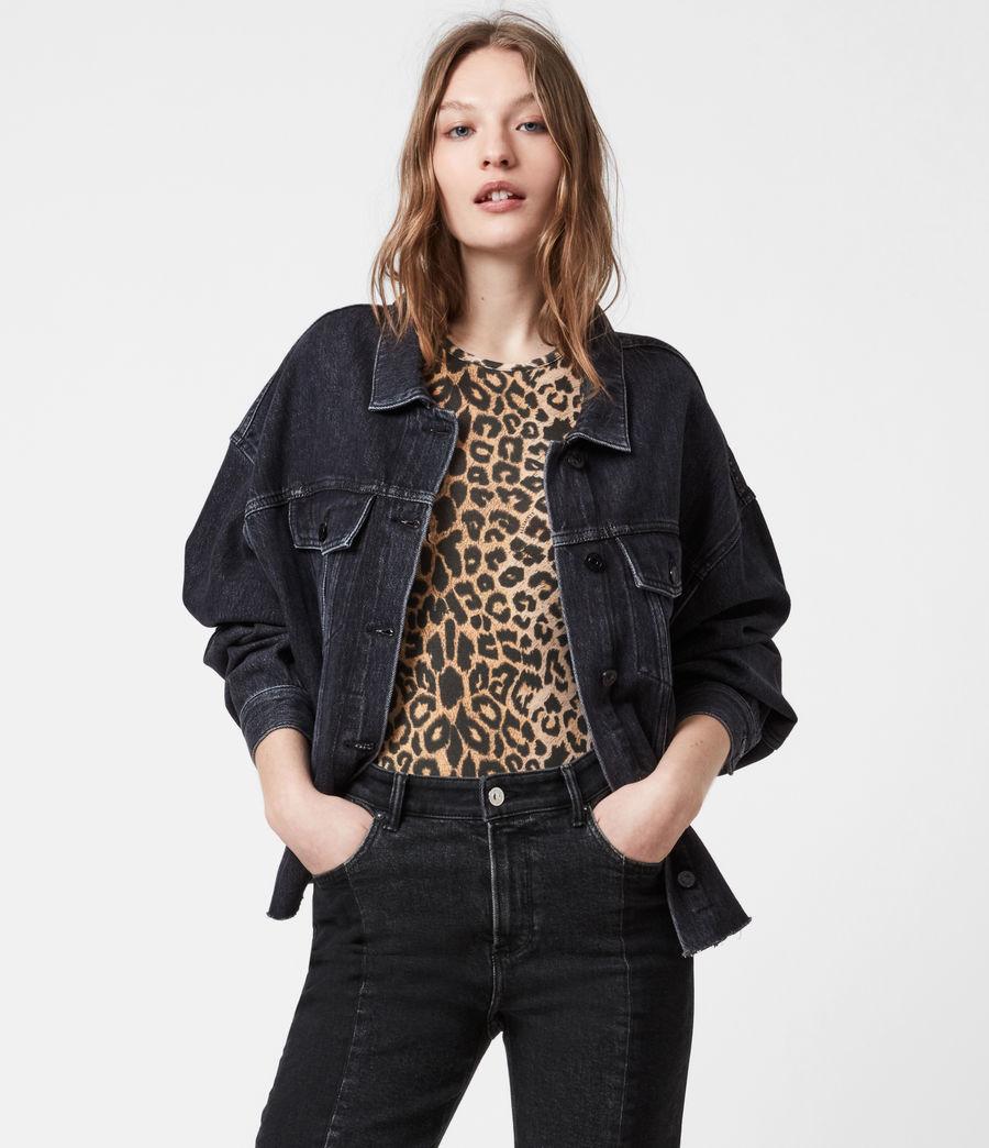 Womens Piper Denim Jacket (washed_black) - Image 6