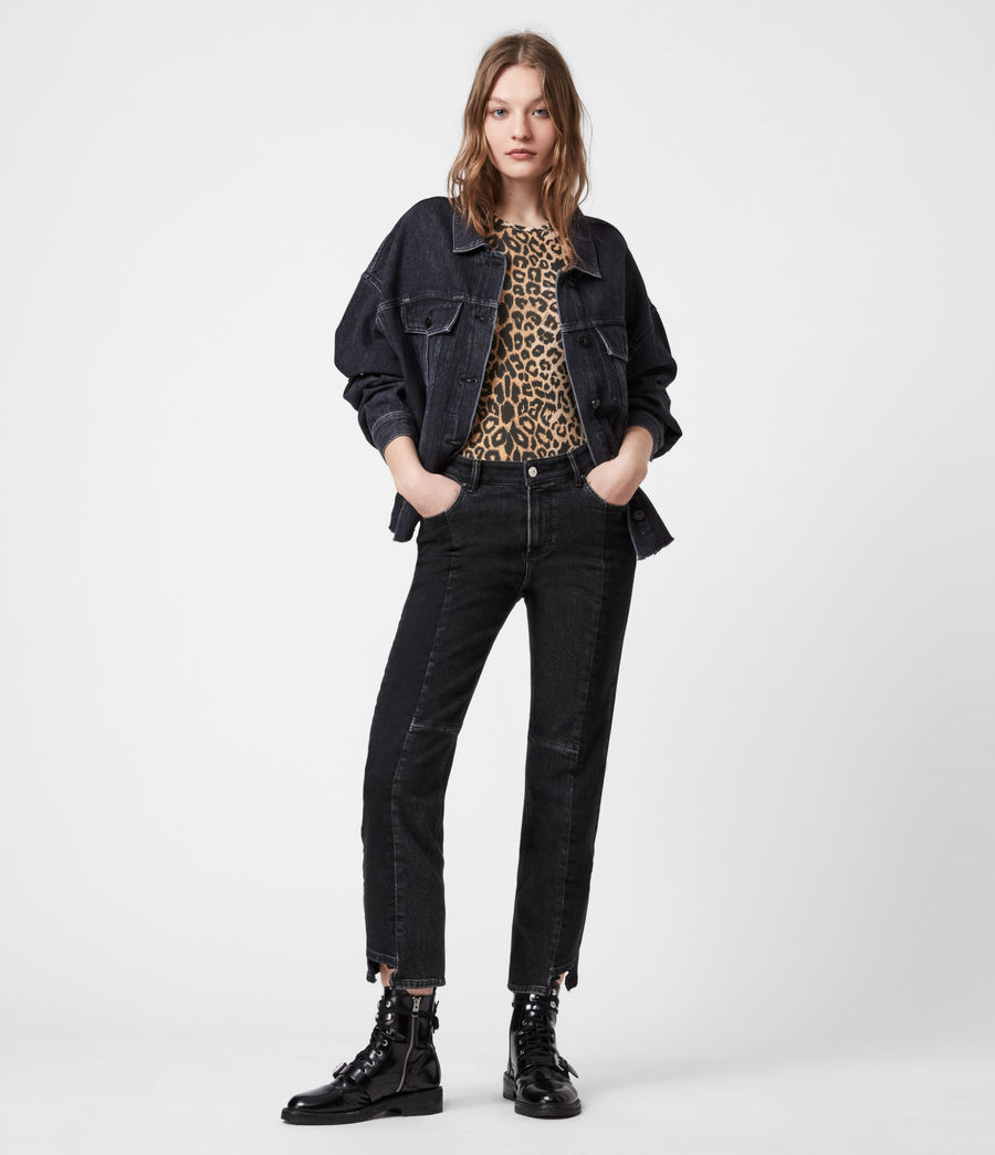 Womens Piper Denim Jacket (washed_black) - Image 7