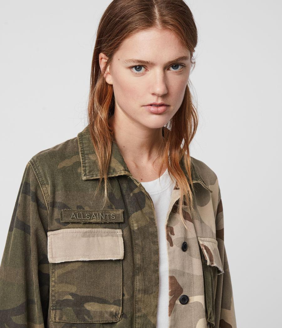 Women's Finch Camo Jacket (camo_green) - Image 2