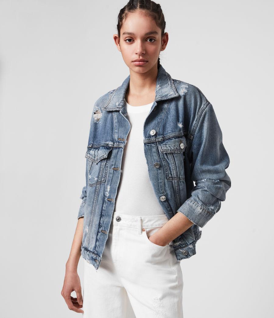 Women's Mila Denim Jacket (indigo_blue) - Image 4