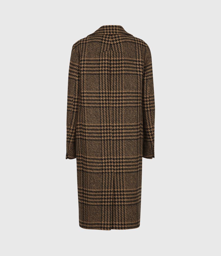 Womens Jette Wool Blend Check Coat (brown_black) - Image 3