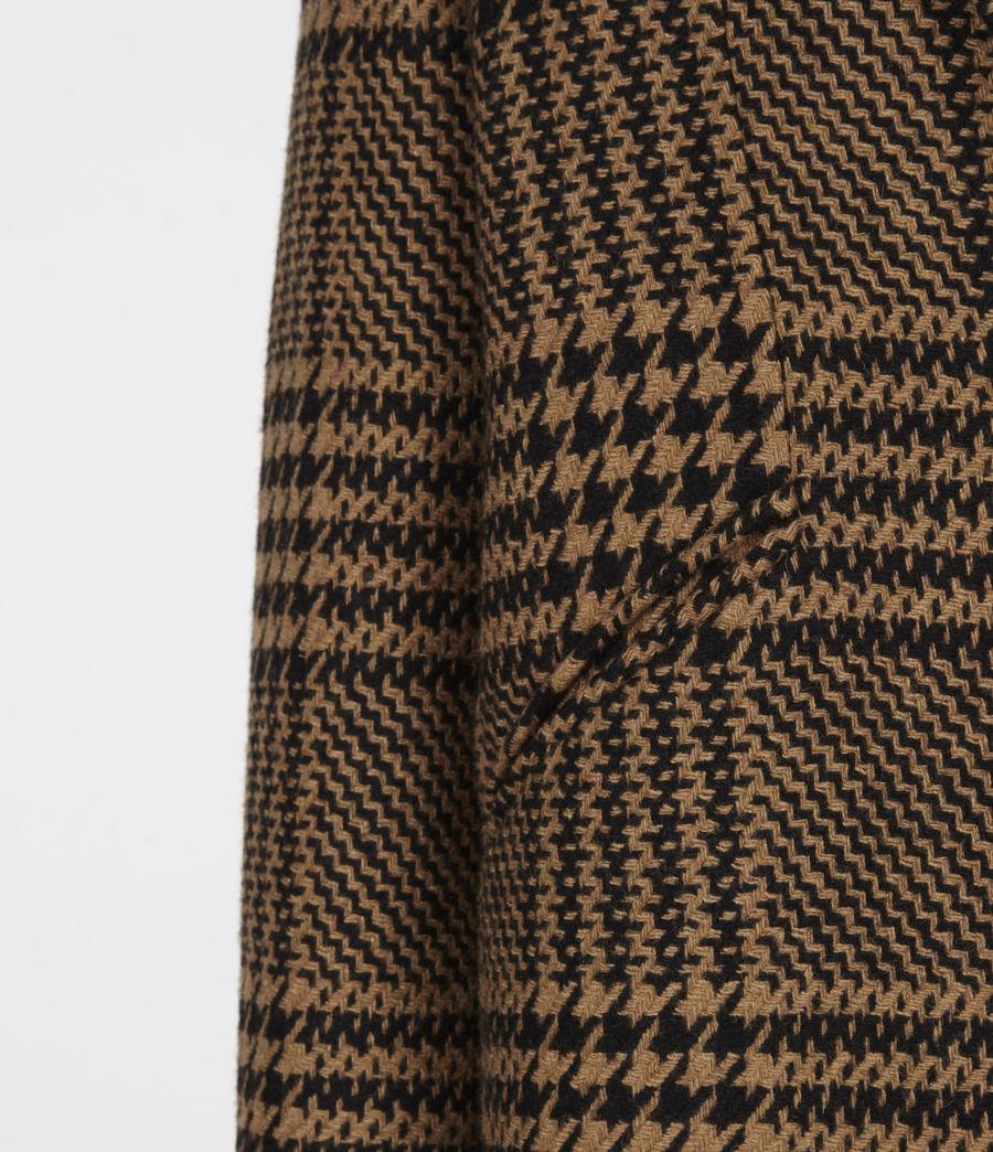 Womens Jette Wool Blend Check Coat (brown_black) - Image 6