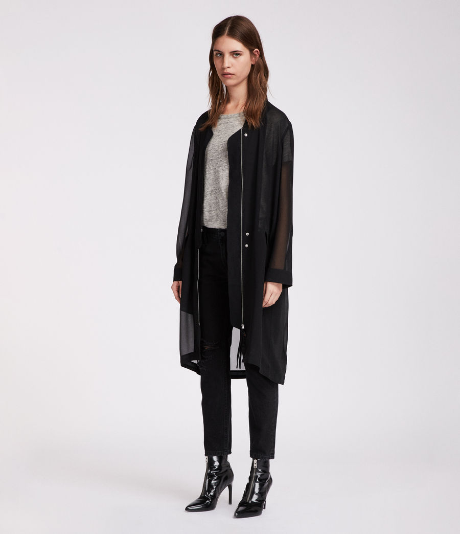 Women's Elio Sheer Parka (black) - Image 1