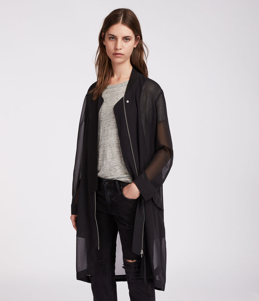 Women's Elio Sheer Parka (black) - Image 2