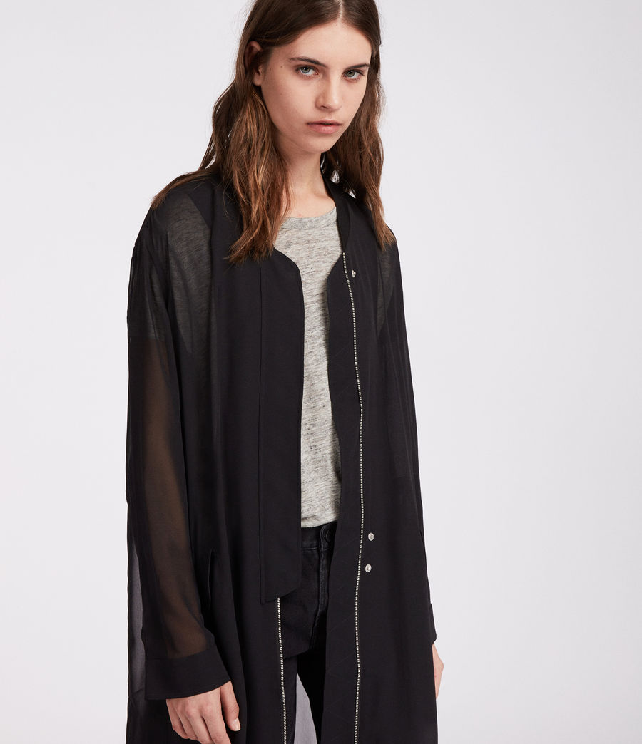 Women's Elio Sheer Parka (black) - Image 3