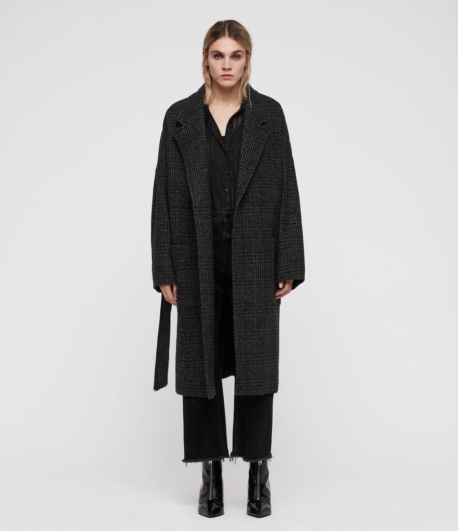 Mujer Abrigo de Cuadros Lara Ilia (dark_charcoal) - Image 3