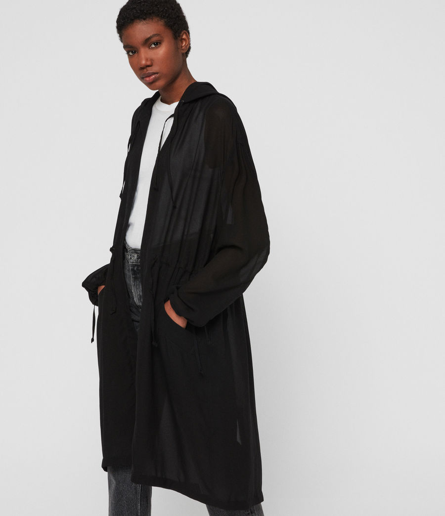 Womens Riley Parka (black) - Image 1