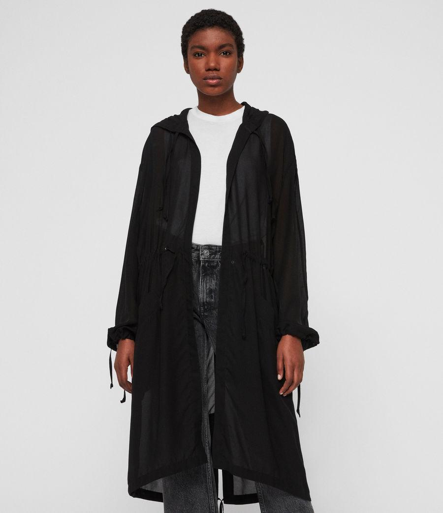 Womens Riley Parka (black) - Image 2