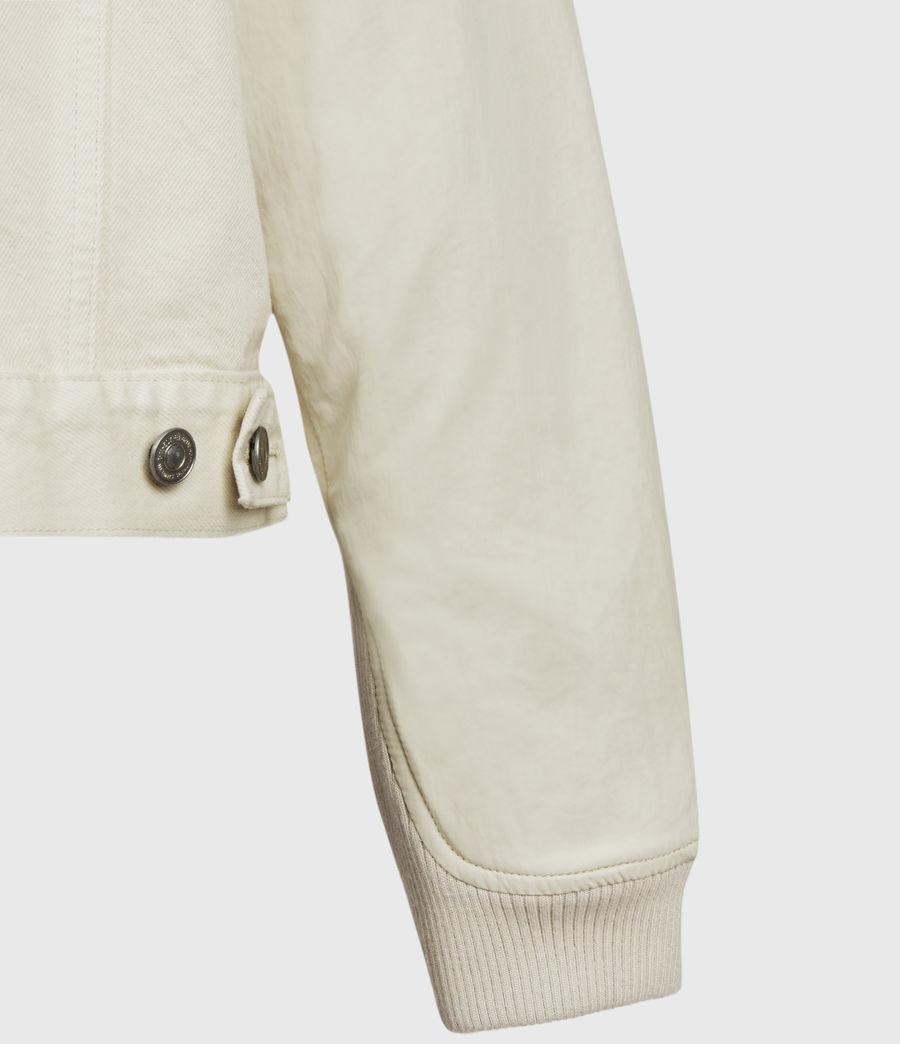 Womens Frankie Denim Bomber Jacket (oyster_white) - Image 5