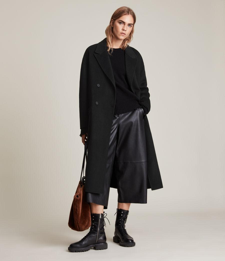 Women's Freya Wool Blend Coat (black) - Image 1