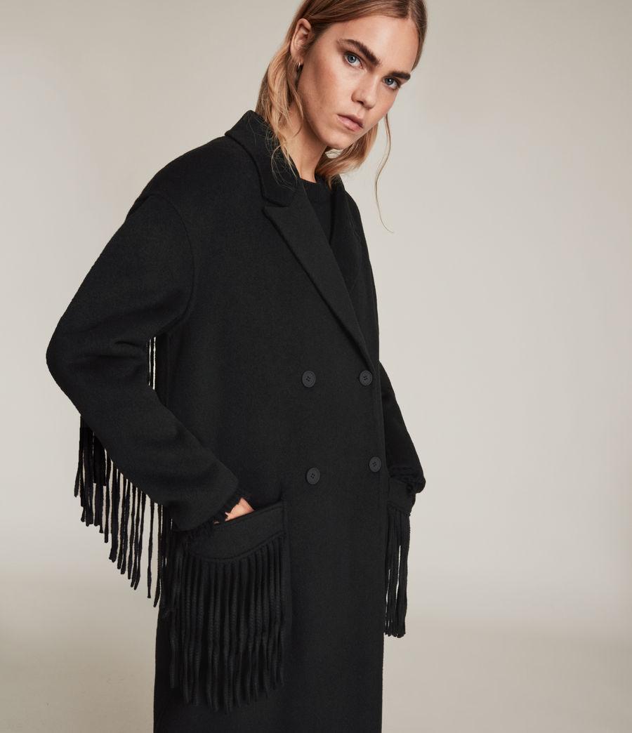 Women's Freya Wool Blend Coat (black) - Image 2