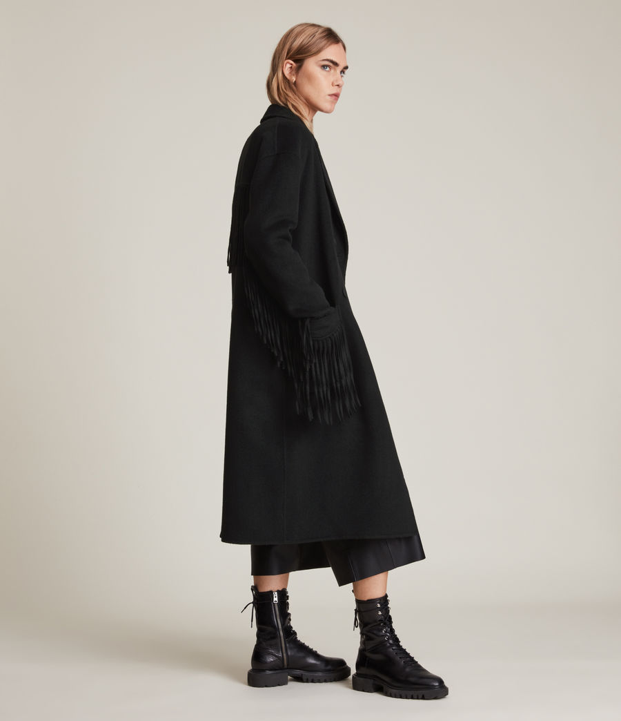 Women's Freya Wool Blend Coat (black) - Image 3