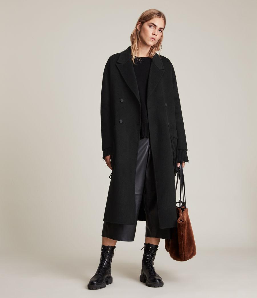 Women's Freya Wool Blend Coat (black) - Image 5