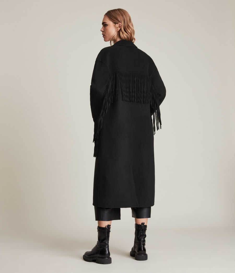 Women's Freya Wool Blend Coat (black) - Image 6