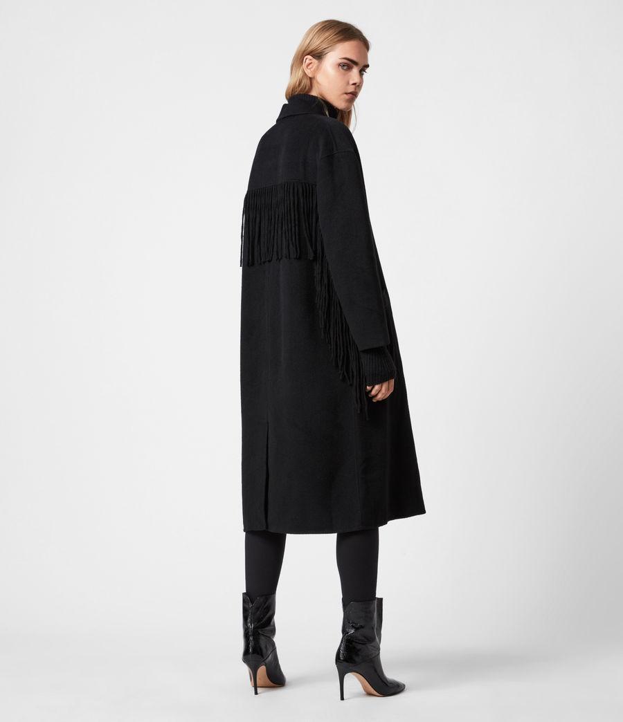 Women's Freya Wool Blend Coat (black) - Image 8