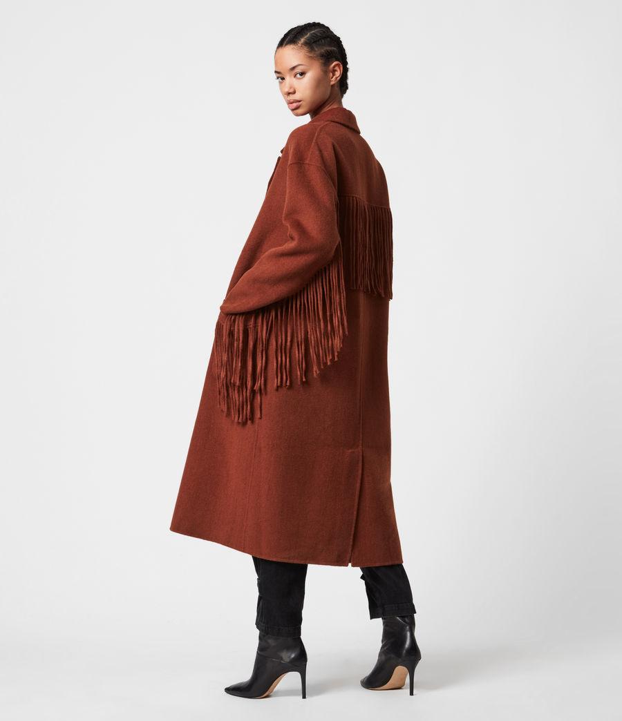 Women's Freya Wool Blend Coat (cinnamon_brown) - Image 1