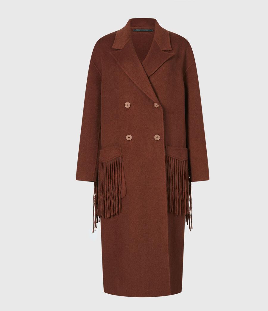 Women's Freya Wool Blend Coat (cinnamon_brown) - Image 2