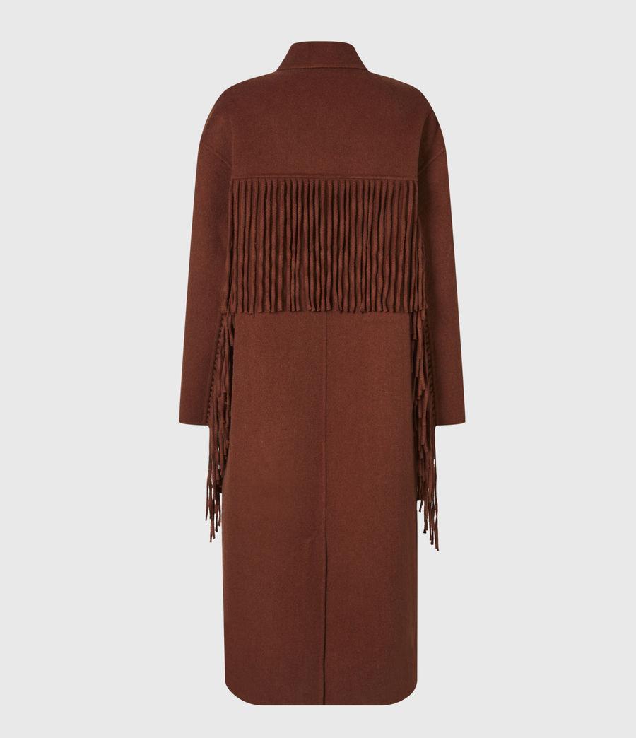 Women's Freya Wool Blend Coat (cinnamon_brown) - Image 3