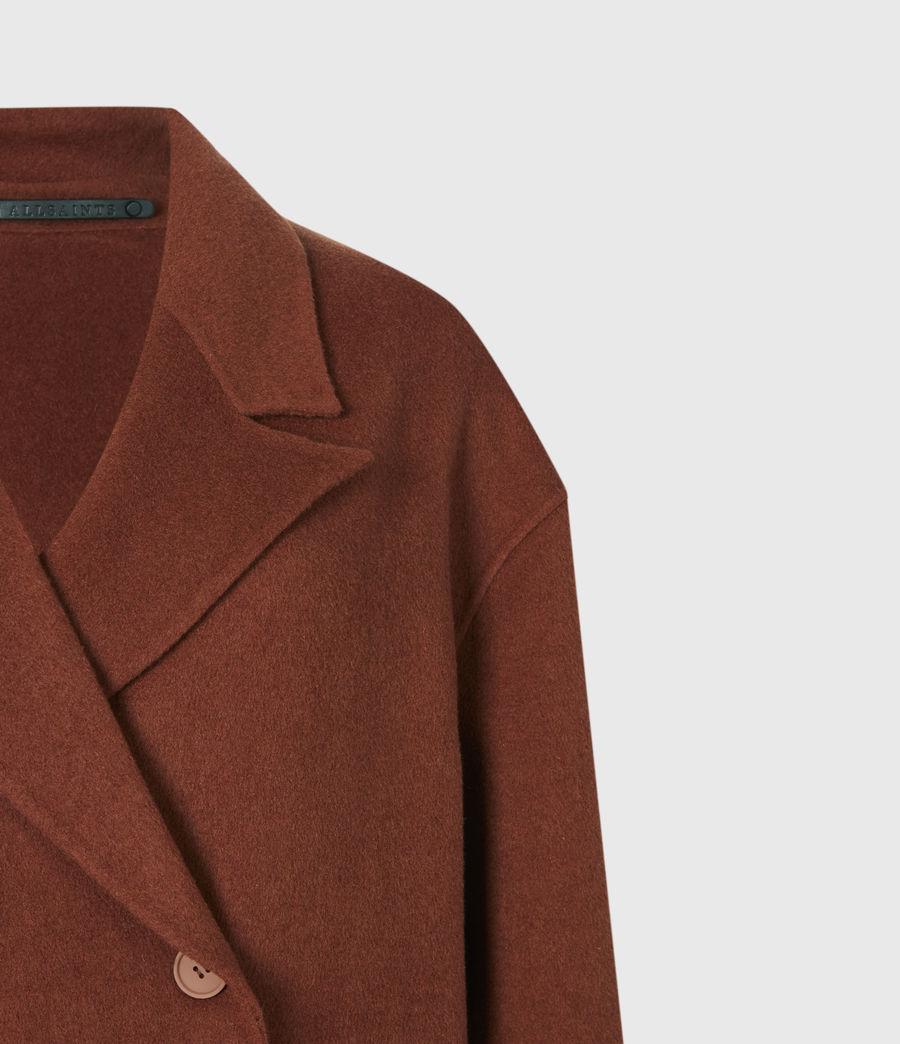 Women's Freya Wool Blend Coat (cinnamon_brown) - Image 5