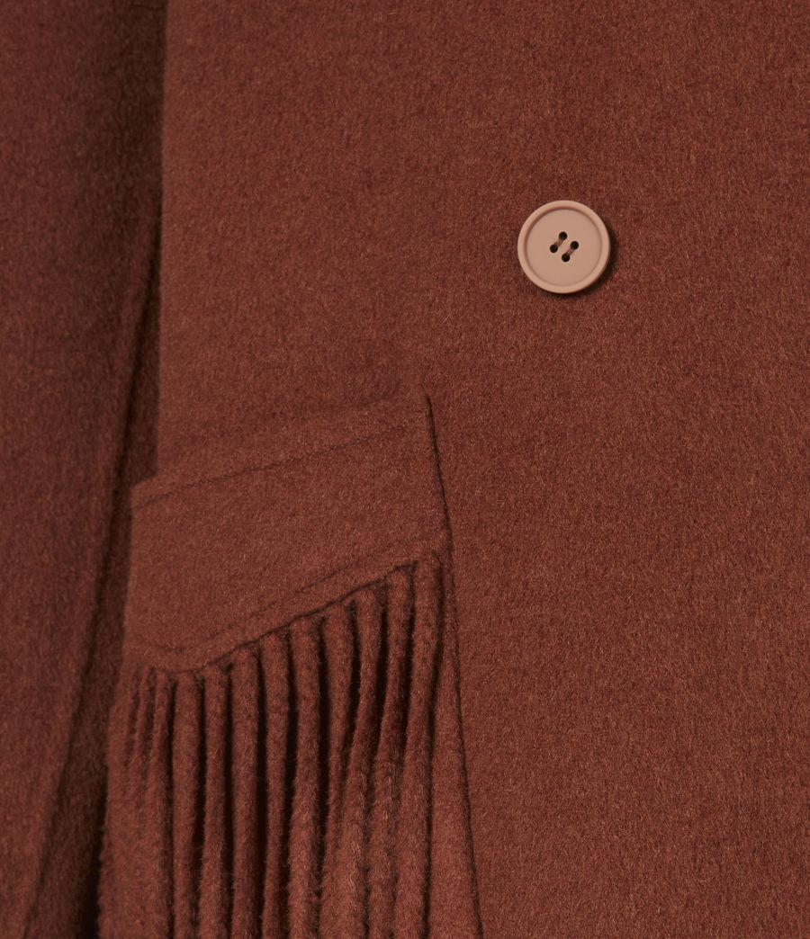 Women's Freya Wool Blend Coat (cinnamon_brown) - Image 6