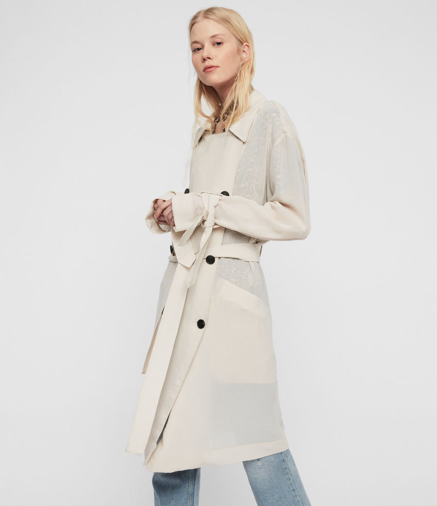 Women's Bria Trench Coat (oyster_white) - Image 1